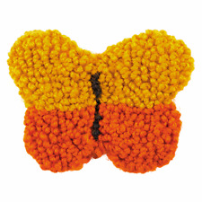 Anchor Punch Needle Yellow Butterfly Brooch Children Kit Tapestry Wool Crafts