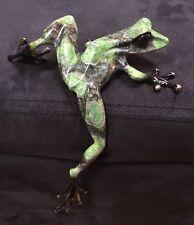 Tim Cotterill Frogman SMALL SOCIAL CLIMBER BRONZE FROG COA
