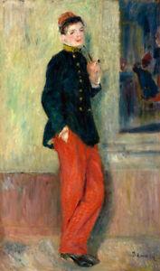 The Young Soldier by Pierre-Auguste Renoir 60cm x 36cm Art Paper Print