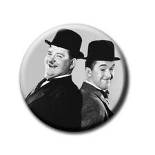 Stan Laurel & Oliver Hardy / Dick und Doof -  Kühlschrankmagnet mit Ø 60 mm [M3]