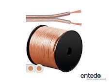 Goobay Lautsprecherkabel Boxen Kabel 2x 0,75mm² CCA Transparent Meterware NEU