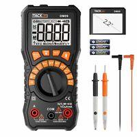 Digital Multimeter 6000 Counts Tacklife DM09 TRMS NCV Detection Amp Ohm Volt LCD