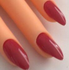 96 Künstliche Fingernägel Stiletto Krallen Full Size Cover Nail Tips Rot
