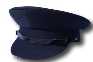 Navy chauffeur style hat - Size 60cm