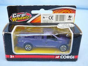 CORGI WHEELZ Purple Metallic 1:64 Ford F-250 Super Duty Pick Up Tuck Diecast Toy