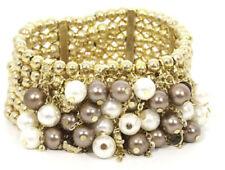 Modeschmuck-Armbänder aus Acryl und Metall-Legierung Perlen
