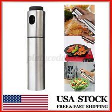 Stainless Steel Olive Spray Oil Bottle Sauce Vinegar Sprayer Mister Spray Pot US