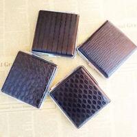 Unisex Womens Mens Thin Slim Faux Leather 20pcs Cigarette Holder Case Box D X5K2