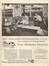 1958 Vintage AD MOBILE HOMES Mfg. Assoc. Family life in a double wide (061816)