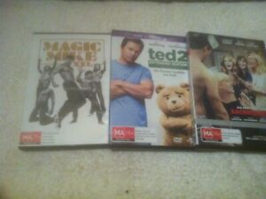 COMEDY DVDS X 3...BACHELORETTE / TED 2 / MAGIC MIKE XXL