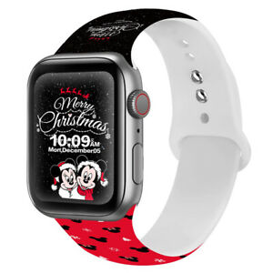 Silicone iWatch band Christmas Straps Gift For Apple Watch Series SE 7 6 5 4 3 2