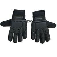 Maddog Full-Finger Tactical Paintball Gloves - Black - Small / Medium