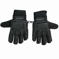 Maddog Full-Finger Tactical Paintball Gloves - Black - Small / Medium