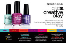 CND (13.6ml) New CREATIVE PLAY Nail Lacquer NEW & FREEPOST