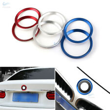 Alu Alloy Front+Rear Logo Circle Ring Cover For BMW 3 4 Serise M3 M4 F30 F32 F82