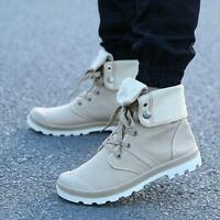 Fashion Men's Canvas Shoes Ankle Boots Lace Up  Sneakers Sport High Top Shoes