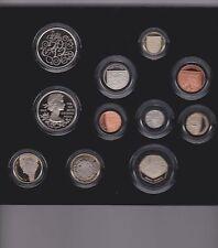 2012 Royal Mint Premium prueba de conjunto 10 Monedas en Caja De Madera Dura Con Certificado