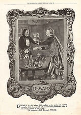 1916 WWI PRINT ~ DEWAR'S WHISKY ADVERTISEMENT
