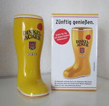 BIERSTIEFEL Dinkelacker Bier 1970er Jahre? ca. 0,3 L Bierkrug Steingut Krug OVP