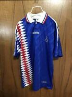 1994-1995 France Les Bleus Soccer Jersey Shirt Maillot Home Adidas World Cup M