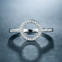 Elegant Rings for Women 925 Silver Wedding Ring White Sapphire Ring Size 6-10