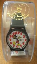 NIB Vintage Lorus Quartz Mickey Mouse Analog Watch Walt Disney Black Band RMFO35