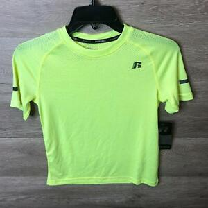 Russell Athletic Boys Medium Vibrant Lime Core Performance T-Shirt NWT