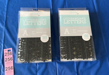 2Packs Black New 1� Letter Board Letters Home by Dcwv 188 Characters Each