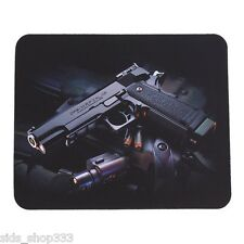 45 Cal Caliber Locked and loaded Anti slip optical COMPUTER MOUSE PAD 8.75 X 7