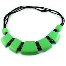 Halskette Längenverstellbar Anhänger Kette grün Maori Holz Design N069