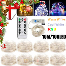 100LED Curtain Lights String USB Powered Twinkle Wall Christmas Party Lamp