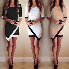UK WOMENS CELEBRITY SEXY BANDAGE SHORT SLEEVE BODYCON PENCIL MINI PARTY DRESS