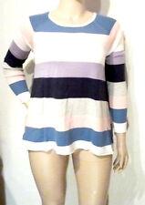 Gestreifte Feine Damen-Pullover & Strickware mit Hüftlang und Baumwollmischung