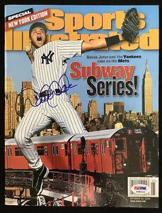 Derek Jeter Signed Sports Illustrated 10/23/00 No Label Yankees Auto HOF PSA/DNA