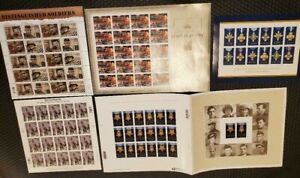 Patriotic/Military/Heroes stamps, Beautiful stamps MNH, FV = $42.60