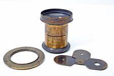 C Bohmke & Co (Voigtlander Aplanat) #3 Large Format Brass Waterhouse Lens+RARE