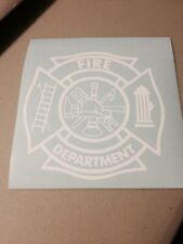 Fire Department Vinyl Die Cut Decal,window,car,truck,laptop,Fire Fighter,iPad