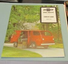 1966 Chevrolet Truck Brochure Chevy Van Series G10 Engines Chassis Features