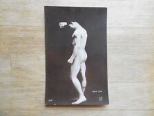 1920s real photo postcard Ange Camilli? risque naked nude man by Henri, Paris