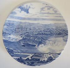 "J&G Meakin England Hand Engraving Blue Colors Niagara Falls 7"" Plate Souvenir"