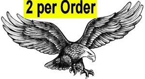 Flying Eagle 2 Temporary Fake Tattoos Waterpoof Freedom Power Body Art Transfer