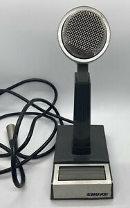 Shure Model 522 Dynamic Base-Station Cardioid Voice Microphone Paging ~ UNTESTED