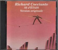 """RICCARDO COCCIANTE - RARO CD IN FRANCESE """" SI J'ETAIS """""""