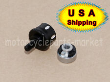 Black Edge Cut Seat Mount Bolt Screw Cap Nut for Harley Touring Sportster Dyna