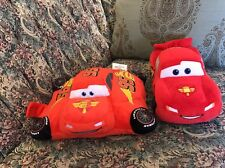 Lightning McQueen Pillow Pets Pee-Wees Disney Store Pixar Cars Plush Lot Of 2 B5