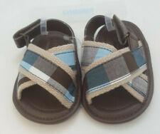 Gymboree LITTLE SURFER DUDE Plaid Sandals Baby Boys Crib Shoe Size 02 03 NWT