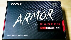 MSI AMD RX 470 4GB Graphics Card Processor ARMOR 4G OC for Gaming