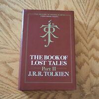 RARE 1st/1st --- THE BOOK OF LOST TALES PART II J.R.R. TOLKIEN HARDBACK