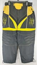 Empire Paintball Pants Men's Sz XL 38-42 Waist Black Yellow Elastic Cuff (b1mr)