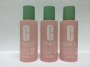 3 Clinique Clarifying Lotion Toner # 3 Combination Oily Travel Size 2oz Each x 3